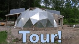 GRAND TOUR – Aquaponic Geodesic Dome Greenhouse